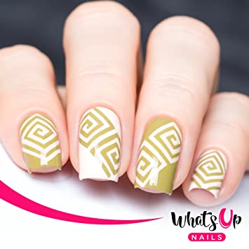 Amazon Whats Up Nails Square Spiral Vinyl Tape Stencils For