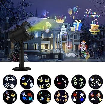 Kuizoou Christmas Waterproof Spotlight LED Lights