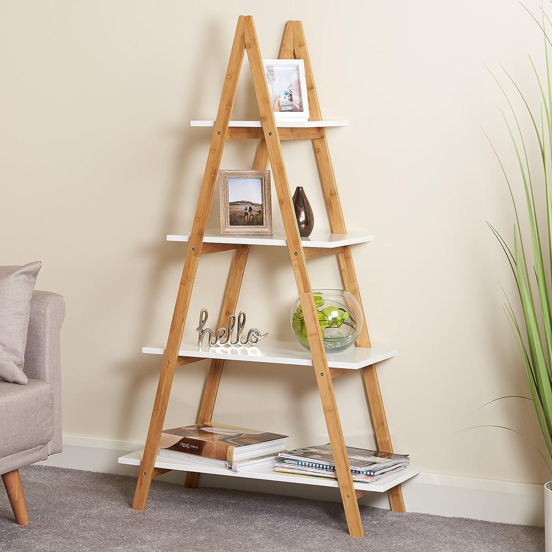 Hartleys Libreria Bianco e bamb/ù a 4 Livelli