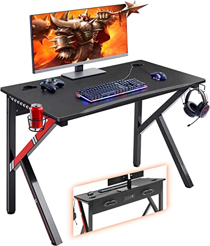 Mr IRONSTONE Gaming Desk 45.2″ W x 23.6″ D Home Office Computer Desk