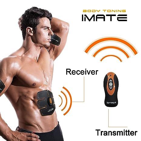 HiiLife Smart cámara Abdominales Unisex cinturón de electroestimulación Abdominal para Deporte perdre del Peso un Vientre Plano y Des abdos Bien ...