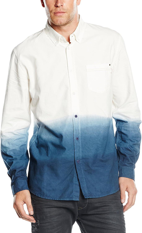 Diesel Camisa Hombre Classic Blanco/Azul L: Amazon.es: Ropa y accesorios