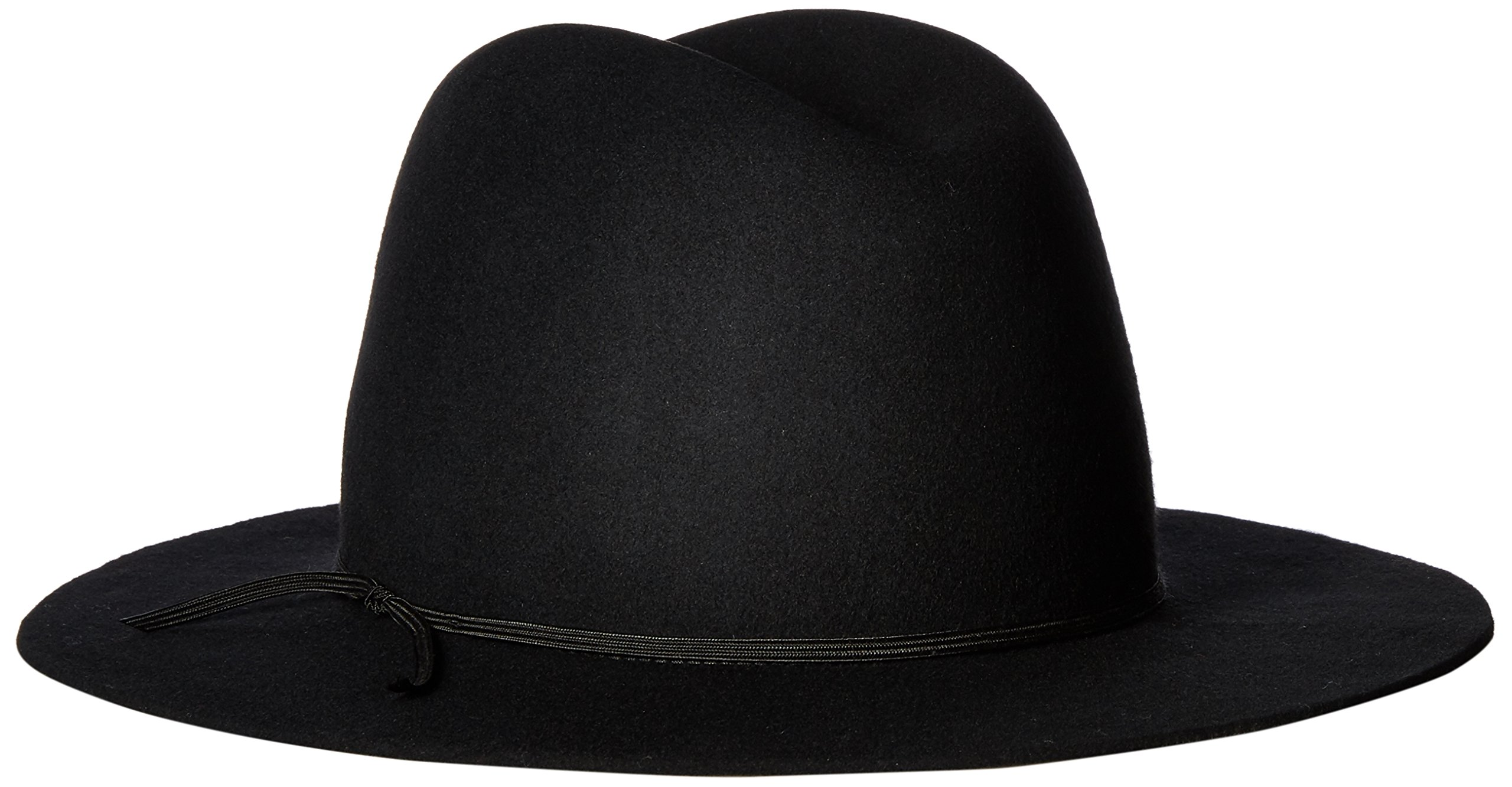 Hat Attack Women's Wool Felt Water Resistant Rain Hat, Black, One Size by Hat Attack