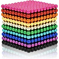 Blue Sky Magnets 5 mm Magnetic Balls Cube Fidget Gadget Toys Rare Earth Magnet Office Desk Toy Games Multicolored Beads Stress Relief Toys for Adults