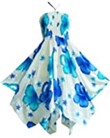 Pikulla Zigzag Hem Women's Bloom Chaba W Gypsy Sundress Multicoloured One Size SML