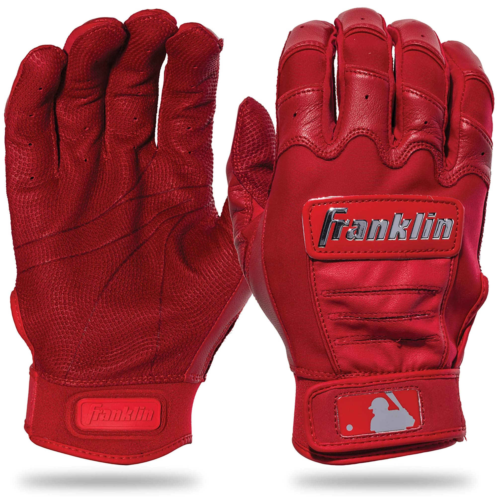Franklin Sports CFX Pro Full Color Chrome Series Batting Gloves CFX Pro Full Color Chrome Batting Gloves, Red, Adult Small