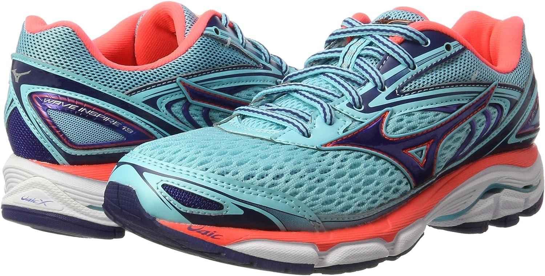 Mizuno Wave Inspire W, Zapatillas de Running para Mujer, Multicolor (Blueradiance/Blueprint/fierycoral), 37 EU: Amazon.es: Zapatos y complementos