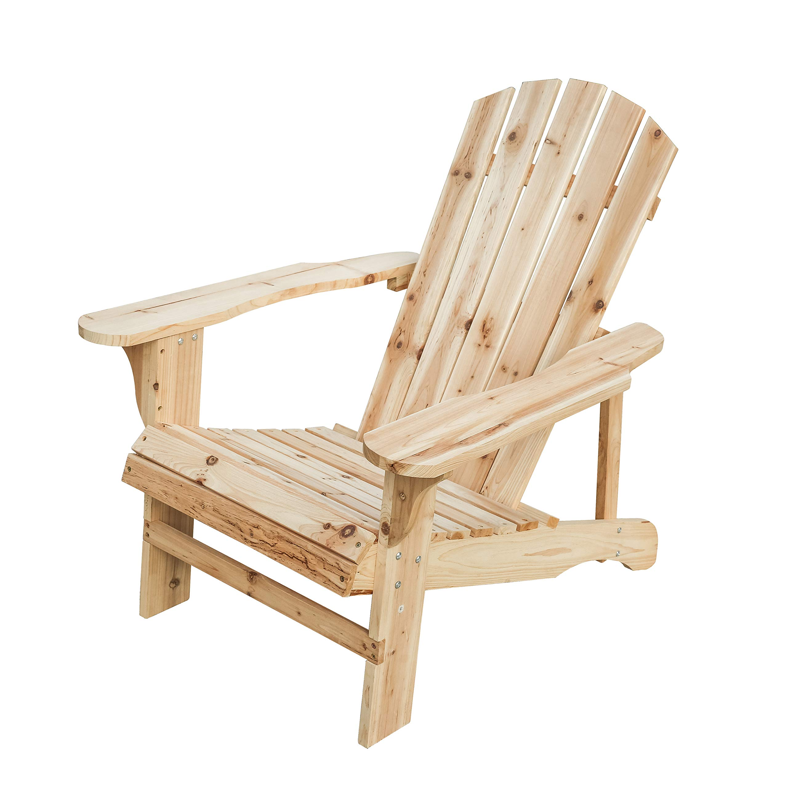 Patio Festival Wood Adirondack Lounger Chair,Outdoor Fir Unpainted Wooden Chairs,Accent Furniture for Yard,Patio,Garden,Lawn w/Natural Finish (Adirondack Chair) by Patio Festival ®