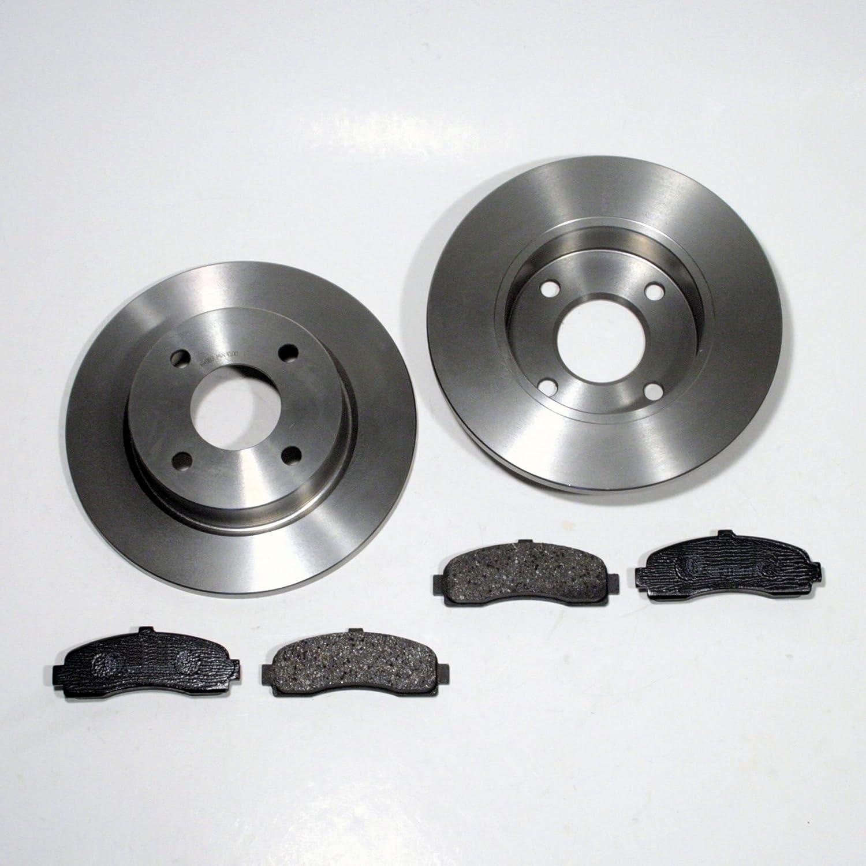 Bremsscheiben unbelüftet Bremsen mit Bremsbeläge VW T4 vorne Vorderachse
