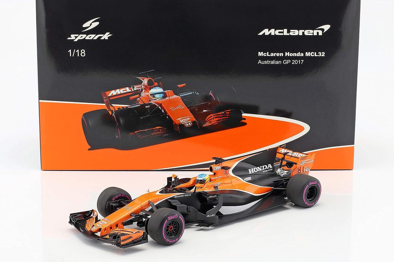 SPARK –  McLaren –  Honda MCL32 –  Australia GP 2017 Coche de ferrocarril de Collection, 18s306, Orange