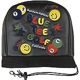 ブルーティーゴルフ BLUE TEE GOLF California 【SMILE & PINBALL】 高級刺繍仕上げ!キャットハンド ヘッドカバー (ホワイト(オフホワイト), スマイル Type(アイアン用))