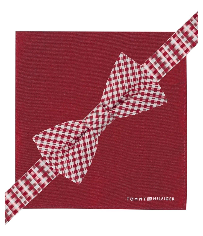 Tommy Hilfiger Mens Gingham Neck Tie Set