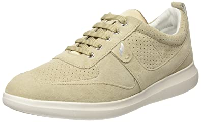 Geox D Gomesia C, Sneakers Basses Femme, (Lt Grey), 38 EU