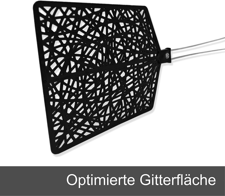 Hausfelder Fliegenklatsche PRO Hand Klatsche f/ür Insekten wie Fliegen M/ücken extra stark und stabil 3er Set in Schwarz