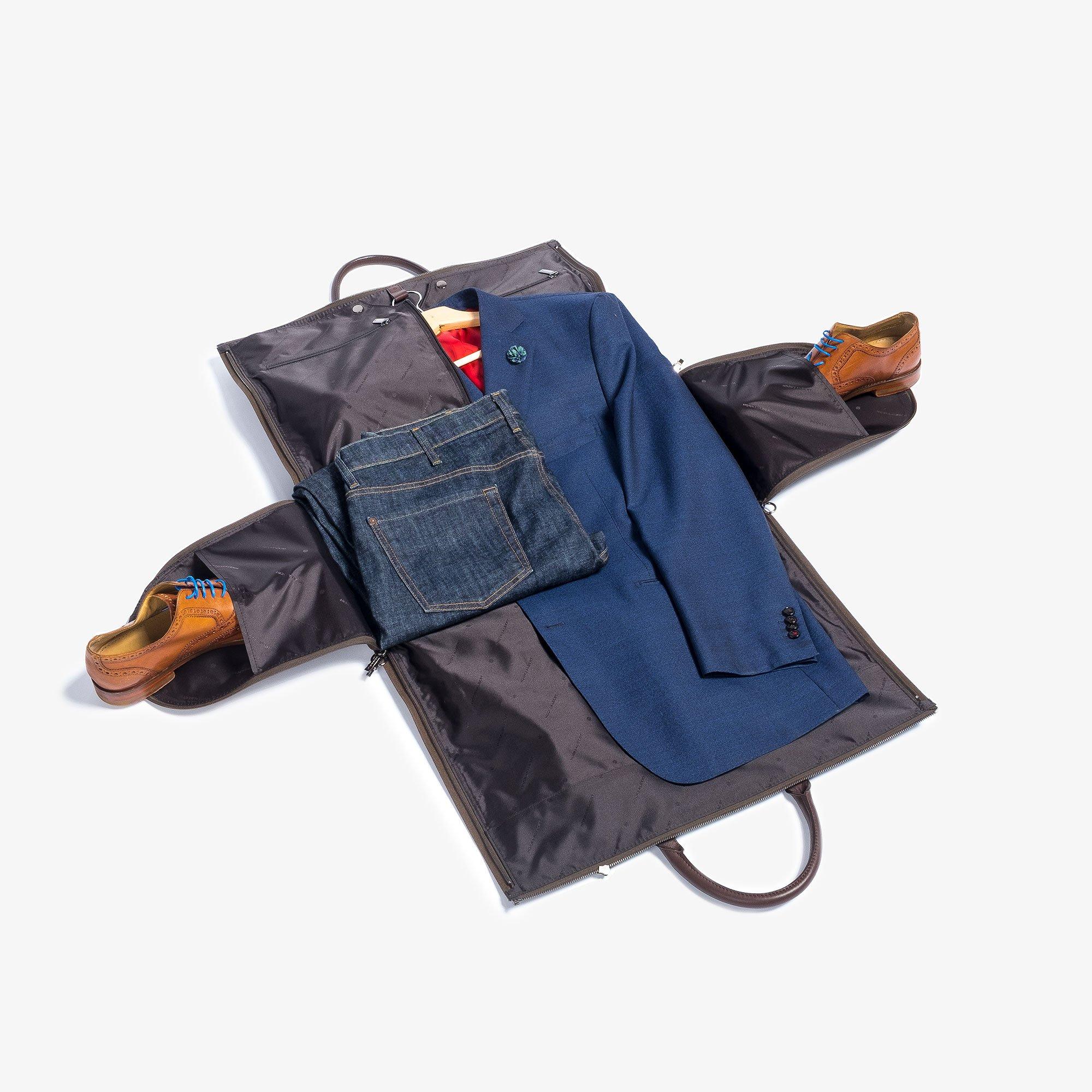 Hook & Albert Garment Weekender Bag (Olive) by HOOK & ALBERT (Image #4)