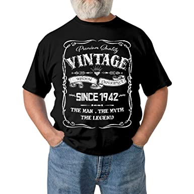 75th Birthday Gift Shirt Vintage1942 75 Year Olds Tshirt Cool For