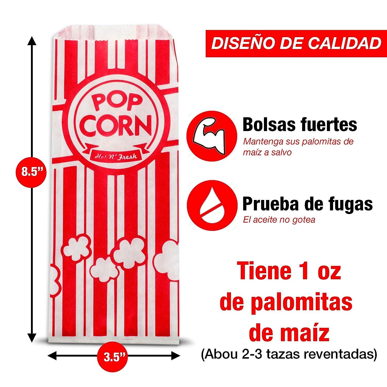 Amazon.com: 200 bolsas de palomitas de maíz 1 UNA Vez ...
