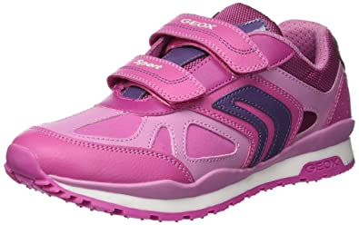 Geox Pavel Girl 2 Sport Sneaker, Fuchsia/Pink 27 Medium EU Toddler (10