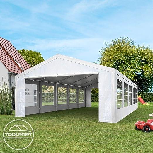 TOOLPORT Carpa para Fiestas 3x6 m en Blanco Lona PE 180 g/m² Impermeable Carpa para el jardín con protección UV: Amazon.es: Jardín