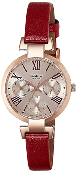 9a537f8f03d Image Unavailable. Image not available for. Colour  Casio Enticer Analog  Rose Gold Dial Women s Watch ...