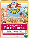 Earth's Best Organic Infant Cereal, Whole Grain Rice, 8 Oz (Pack of 12) - Packaging May Vary