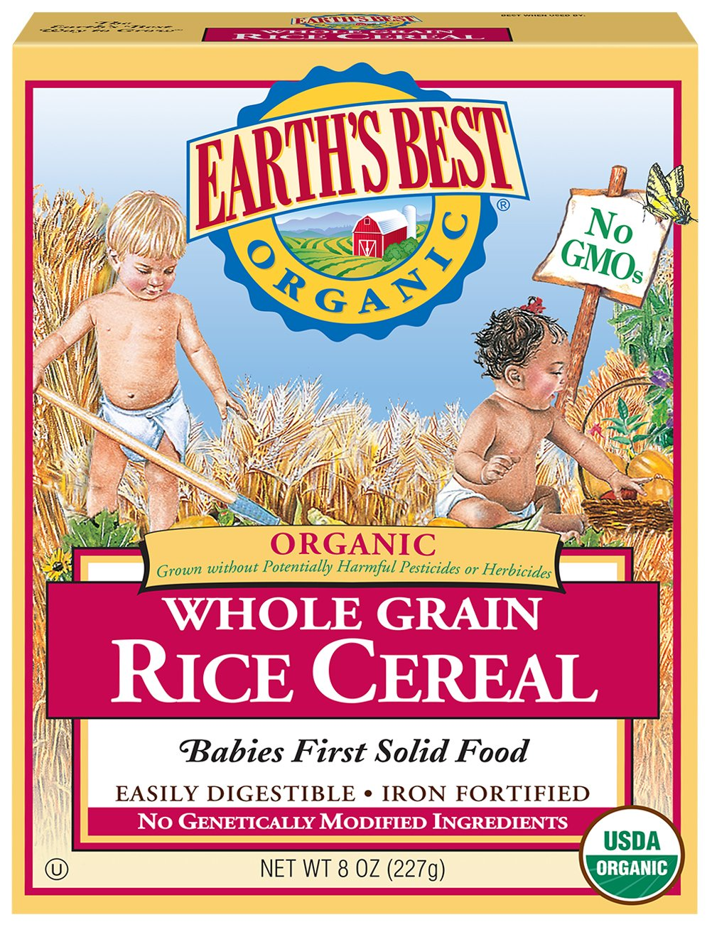 Earth's Best Organic Whole Grain Rice Cereal, 8 Oz Earth' s Best 023923900011