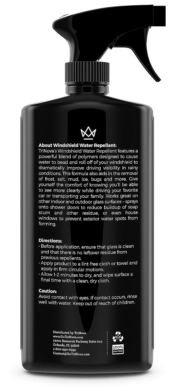 Repelente de Agua para el Parabrisas - La mejor tecnología de rodamientos para hacer los vidrios y ventanas a prueba de agua - Mejora la visibilidad en la ...