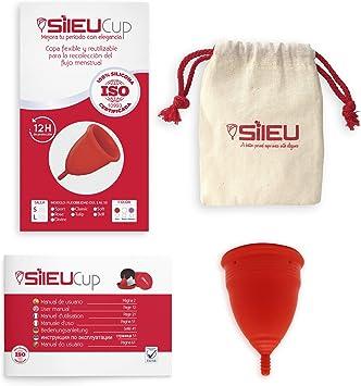 Copa Menstrual Sileu Cup Soft - Ayuda prevenir infecciones urinarias, cistitis, vejigas sensibles, calambres, cólicos menstruales - Disminuye dolor ...