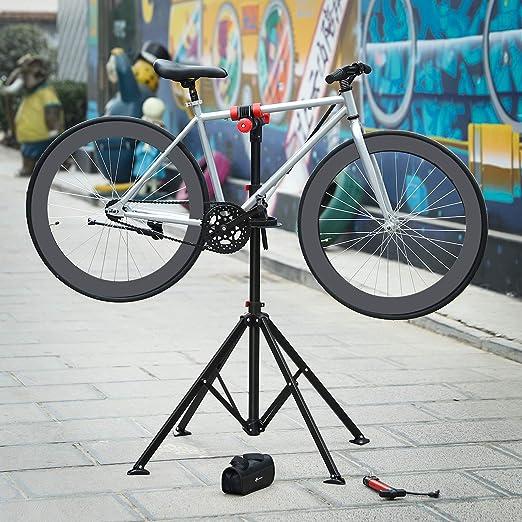 SONGMICS Soporte para Reparación de Bicicleta, Bandeja de ...