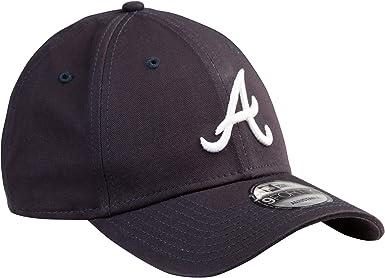 New Era Hats 9FORTY Atlanta Braves Baseball Cap Navy Blue