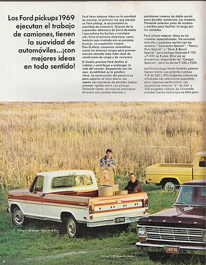 1969 Ford Pickup F-100 250 350 4WD Spanish-language brochure at ...