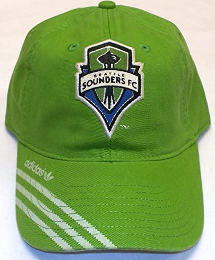 Amazon.com   MLS Seattle Sounders FC Slouch Strap Back Adidas Hat - Osfa -  ET68Z   Sports   Outdoors f5548e075