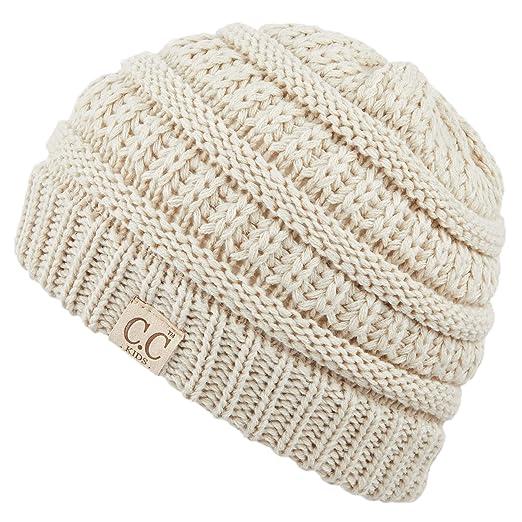 d9e25e99e CC Hatsandscarf Kids Beanie Ages 2-7 Warm Chunky Thick Stretchy Knit Slouch  Beanie Skull Hats (YJ-847-KIDS)