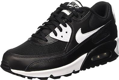 Nike Air Max 90 Essential, Baskets Basses Femme, Noir (Black