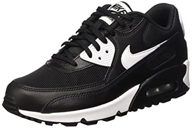 on sale 946c6 98d74 where to buy nike womens air max 90 essential black white metallic silver  running shoe 8.5
