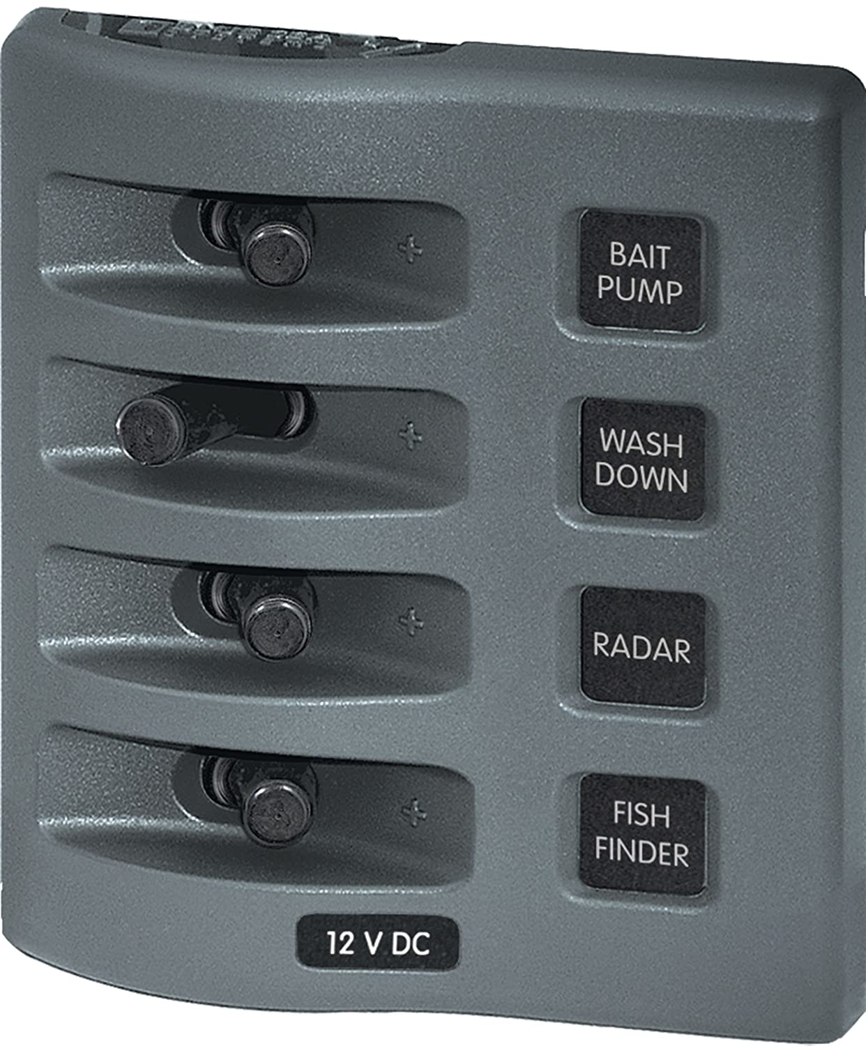 Amazon.com : Blue Sea Systems WeatherDeck 12V DC 2-Position Circuit Breaker  Waterproof Fuse Panel, Grey : Boating Panels : Sports & Outdoors