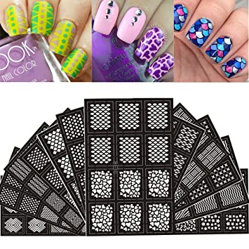 Amazon Ejiubas 144 Pieces 24 Different Designs Nail Vinyls Nail