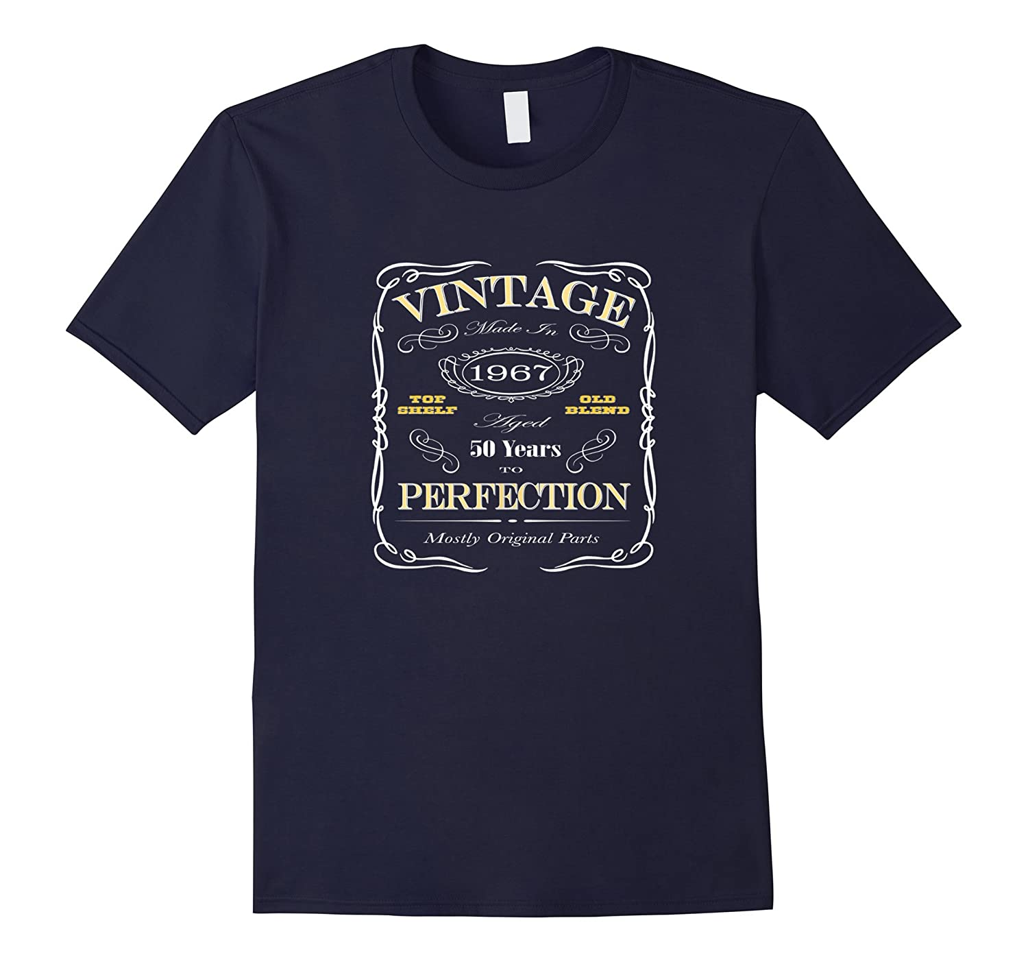 50th Birthday Gift T-Shirt - Born In 1967 Vintage Style-TD