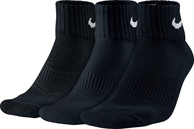 literalmente Ya George Eliot  Buy Nike Men's Cotton Ankle Socks (Pack of 3) (SX4703-001_Black ...