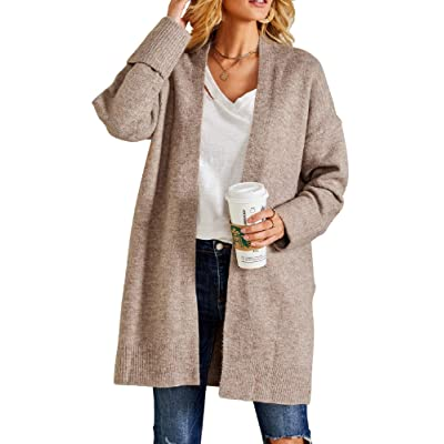 Ferbia Women Chunky Sweaters Boyfriend Baggy Cardigan Slouchy Oversized Pockets Open Front Long Sleeve Knit at Women's Clothing store