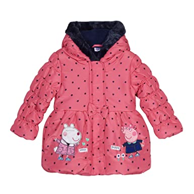 Peppa Pig Girls Pink Hooded Dressing Gown * 100% Polyester ...