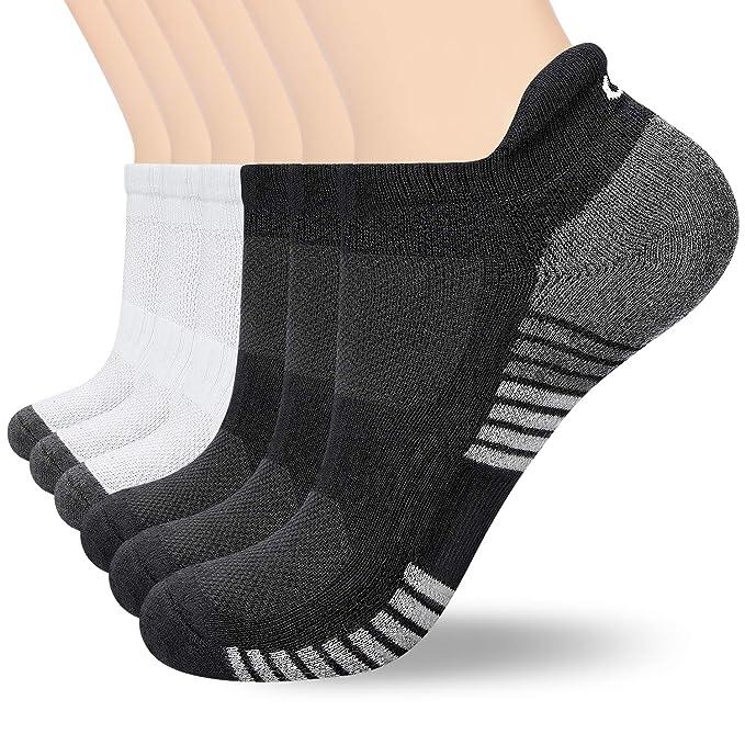 anqier Sneaker Socken Herren Damen Baumwolle Kurze Sportsocken Rutschfest Low cut Laufsocken (6 Paar)