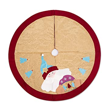 sanno 42 christmas tree skirt santa claus woodland collection xmas non woven decorations