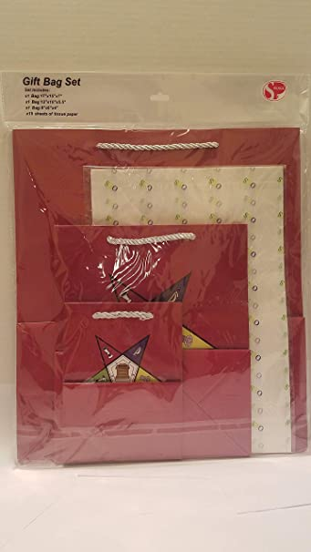 Order of the Eastern Star OES Gift wrapping 1 Gift Bag with 10 Tissue Paper Set