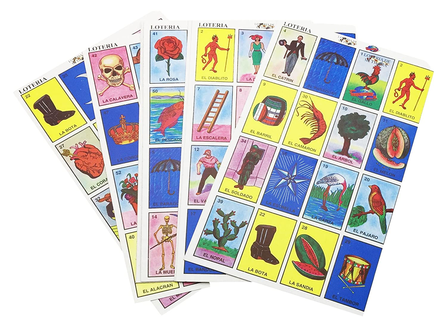 Amazon.com: IMUSA USA TOY-01100 Traditional Mexican Loteria Card Game: Arts, Crafts & Sewing