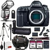 Canon EOS 5D Mark IV Digital SLR Camera Bundle (Body Only) + Prime Accessory Bundle (20 Items)