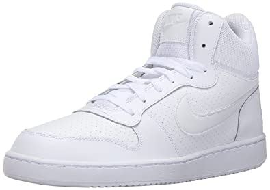cheaper d6c1f d9828 Nike Court Borough Mid, Chaussures de Sport-Basketball Homme, Gris, Blanc (