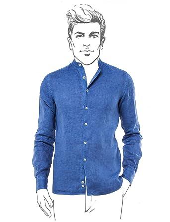 43564f36 Fradi Royal Blue Linen Shirt C757_WF Made in Italy 181C757_WF181LN5339