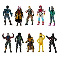 "Fortnite The Chapter 1 Collection - Ten 4"" Action Figures, Featuring Recruit (Jonesy), Black Knight, Rust Lord, The Visitor, Drift, DJ Yonder, Ice King (Gold), Peely, Rox, Eternal Voyager"