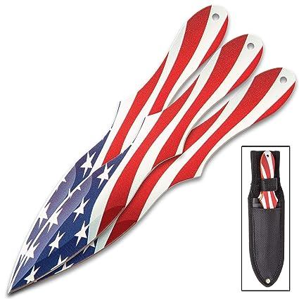 Amazon.com: K EXCLUSIVE Old Glory - Juego de 3 cuchillos ...